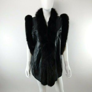 Morris Kaye & Sons Fur Trim Leather Vest